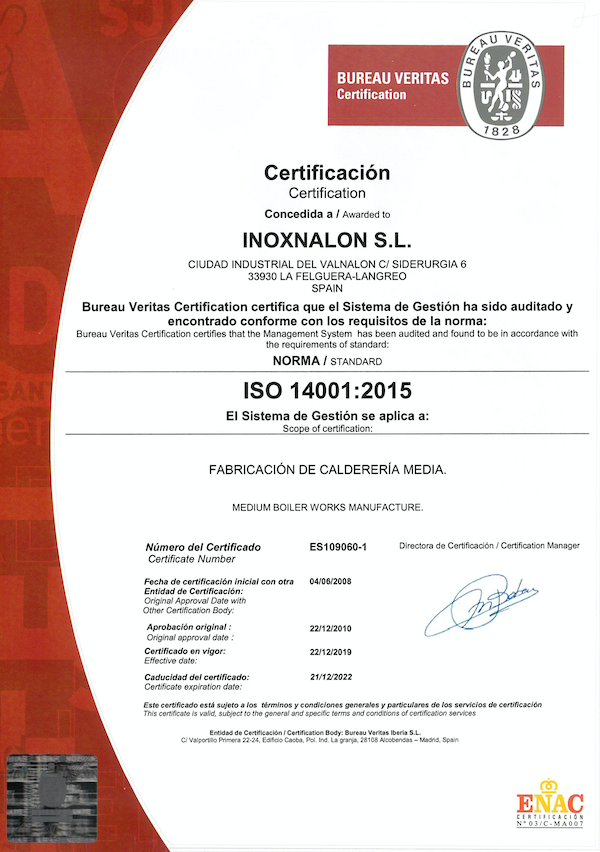 INOXNALON-ISO14001