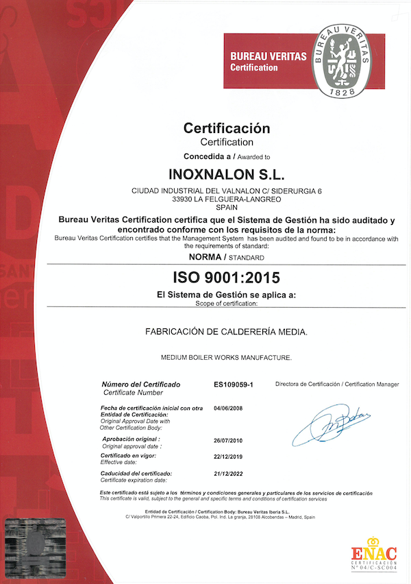 INOXNALON-ISO9001